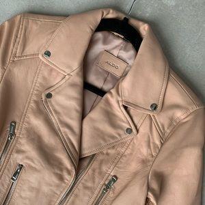 ALDO faux leather blush jacket